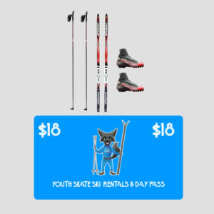 youth skate ski rental and day pass combo